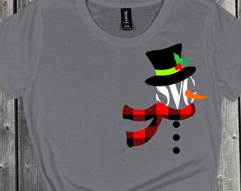 plaid Snowman Svg, Snowman Svg, Christmas Svg, buffalo plaid Svg, Boy Christmas Svg,cut files, cricut svg, svg for mobile, mobile svg