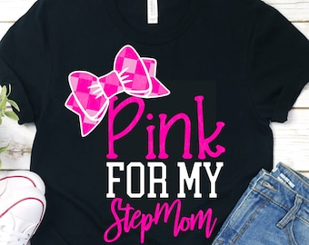 pink is for my stepmom svg, breast cancer svg, awareness svg, dxf, eps, stepmom svg, cancer svg,svg for cricut,cancer svg, cancer ribbon svg