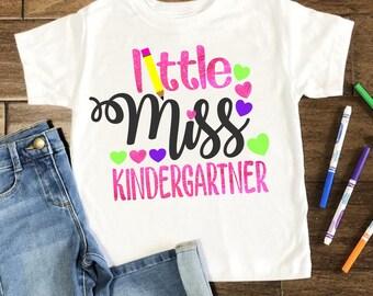 kindergartner svg, little miss kindergartner svg, school svg, back to school svg, tshirt, teacher,svg for cricut,silhouette cut file