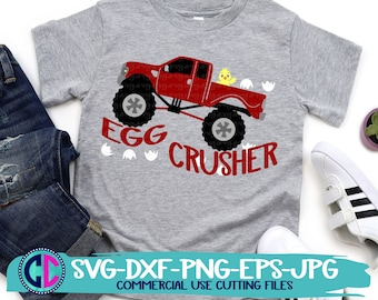 Easter Svg, Egg Crusher svg, Kids Monster Truck svg, Big Truck svg, Easter Truck svg, Easter svg design, Easter cut file, Spring cricut