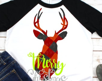 Plaid Deer svg, plaid deer head svg, Deer svg,Plaid svg,Christmas svg,Christmas svg design, Christmas cut file,svg for cricut,svg for mobile