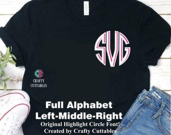 Circle Font svg,Cuttable Fonts,circle monogram svg,font svg,monogram font,monogram circle svg,Cricut circle font svg,font circle monogram