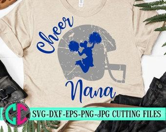 Grunge Cheer nana svg, Cheerleader nana svg, cheerleader svg, football SVG,  cheerleader cut file, Football nana SVG, svg for cricut