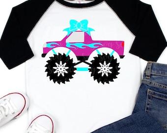 Monster Truck SVG file,Monster Truck Shirt,Svg Monster Truck,Girls Monster Truck,Iron on Transfer,cut files, cricut svg, svg for mobile