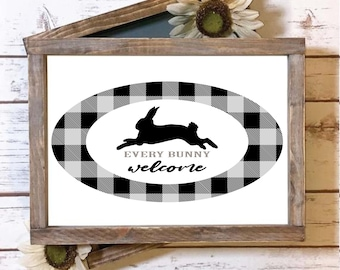 every bunny welcome svg,dxf png eps File for Cutting Machines Cameo Cricut, Easter, Easter Svg Designs, Easter Cut File, cricut svg