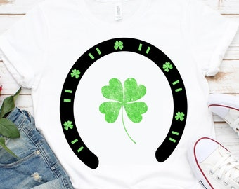 Shamrock Horseshoe svg,Lucky Horseshoe svg,Lucky svg,St Patricks Day svg,St Patty Day tshirt,crafty cuttable,Cricut Design,Silhouette Design