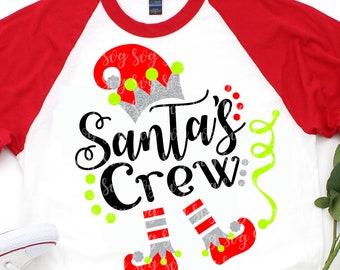 Santa's Crew svg,Elf svg,Santa crew svg,Christmas, Christmas svg,Christmas svg designs, Christmas cut file, svg for cricut,svg for mobile