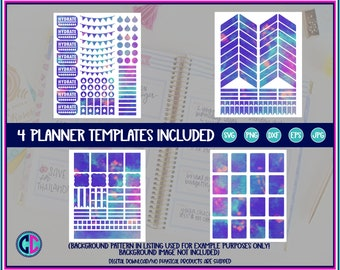 Planner Template Bundle, Planner stickers templates, Planner svg Bundle, planner template, Cricut planner Design, Silhouette planner Design