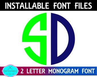 circle two letter monogram ttffontscircle monogram ttftwo letter monogramcircle monogramcircle fontcricut designssilhouette designs