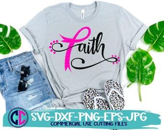 breast cancer svg, faith cancer ribbon svg, breast cancer awareness svg, ribbon svg, cancer svg,cancer ribbon svg, cricut svg, awareness svg