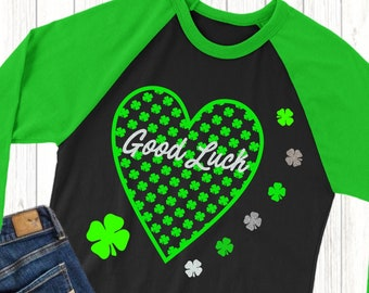 Good Lucky svg,Lucky Shamrock svg,Shamrock svg,St.Patrick's Day svg,Lucky Heart,Lucky tshirt,crafty cuttable,Cricut Design,Silhouette Design