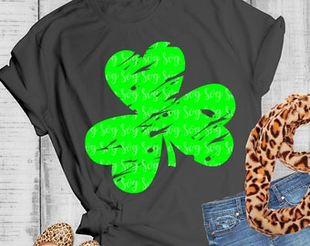 Shamrock svg, grunge svg, St Patrick's Day svg, SVG, eps, dxf, clover SVG, 3 leaf clover svg, distressed, File for Cricut, svg for Cricut