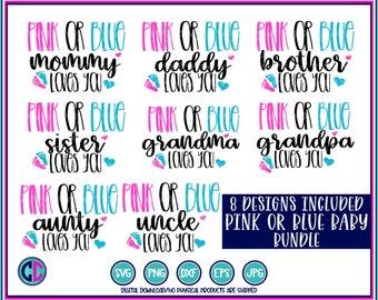 Gender reveal bundle svg, Pink or blue bundle svg, baby gender reveal bundle svg, Pink or blue svg, baby reveal bundle, gender reveal Svg