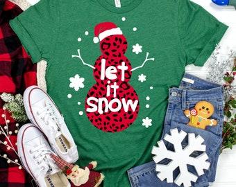 let it snow cheetah print svg, cheetah snowman svg, leopard snowman svg, Christmas svg design, Christmas cut file, svg for cricut