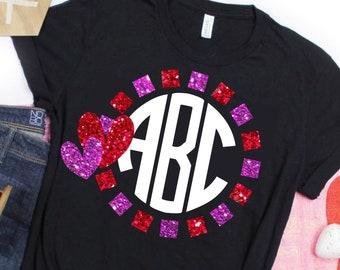 Heart Squared Valentine Monogram svg,Monogram Valentine svg,Valentine svg,Valentines svg,Valentine Tshirt,Cricut Designs,Silhouette Design
