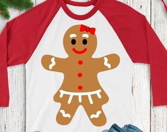 Gingerbread svg,Gingerbread Girl svg,Gingerbread Shirt,Christmas Shirt,Christmas svg,Christmas Gingerbread svg,Cricut Design,Silhouette DXF