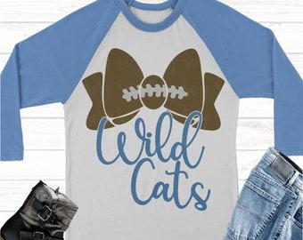 wild cats football bow svg, Football svg,wild cats football,wild cats,wild cats svg,Sports Svg Designs, Sports Cut File, cricut svg