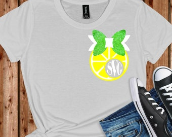 lemon slice monogram svg,svg for cricut,monogram circle svg,lemon monogram svg,Monogram Svg Designs, Monogram Cut File, cricut svg