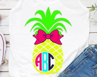 Pineapple Monogram svg,Pineapple svg,Bow svg,Monogram svg,Summer svg,Summer Monogram svg,Bow Monogram svg,tshirt svg,tumbler svg