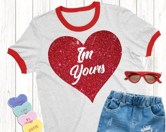 I'm Yours svg,Valentine svg,Yours Heart svg,Valentine Heart svg,Valentine Tshirt,Plaid svg,crafty cuttables,Cricut Design,Silhouette Design