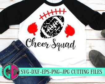 Grunge football svg, Cheer squad svg, cheerleader svg, football SVG, Cheerleading, cheerleader cut file, Cheer Mom SVG, svg for cricut