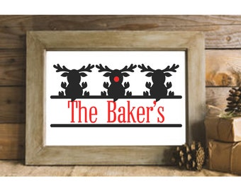 Rudolph Monogram SVG,Christmas Monogram, Christmas svgs, Holiday svg,Reindeer svg,deer svg, svg deer,Cricut Designs,Silhouette Designs