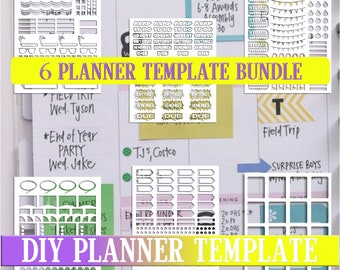 Bundle sale,Planner stickers templates DIY kit, life planner template, commercial use, instant download,Cricut Designs,Silhouette Designs