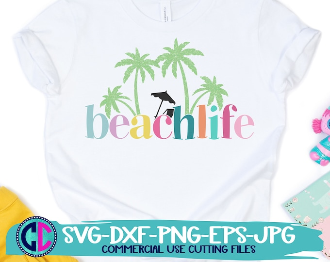 Featured listing image: Summer Svg, Beach life svg, Palm tree svg, vacation svg, beach svg, summertime svg, Summer svg design, Summer cut file, Summer cricut