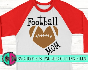 heart football mom svg, football svg, football shirt svg, football decal, football mom, svg for cricut,Silhouette Designs,heart football svg