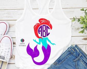 Ariel Monogram,Mermaid Ariel svg,svg for cricut,Monogram Mermaid,Monogram svg,Monogram svg File,Cricut Designs,Silhouette Designs