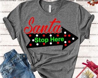 Santa Stop Here,Santa svg,Santa Stop svg,Santa Claus svg,Santa,Christmas svg,Christmas Svg Design, Christmas Cut Files, cricut svg