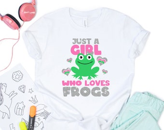 just a girls who loves frogs Svg, kids design Svg, frog Svg, Valentines Day Svg, Valentine Svg Designs, Cricut valentines day svg