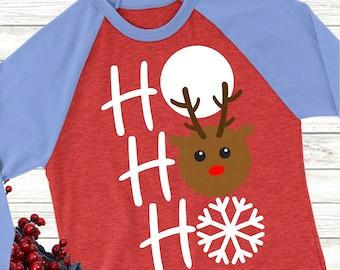 rudolph svg,christmas svg, reindeer svg, Ho ho ho svg, reindeer, christmas, svg, svg for cricut, snow svg, sublimation, dxf, svg files