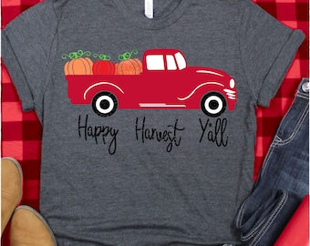 Happy Harvest Red Truck svg,Thanksgiving Red Truck svg,Red Truck svg,Pumpkin svg,fall Svg Designs,fall Cut Files,svg for cricut,svg mobile