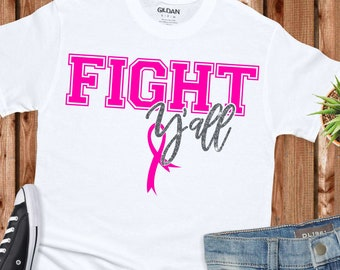 breast cancer svg, fight yall cancer ribbon svg, faith svg, cancer svg, awareness ribbon, breast cancer svg designs, breast cancer cut files