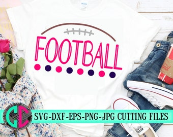 Football dot svg, football cut files, Football lace svg, dxf, eps, png, Football, svg files, iron on decal, football Mom svg, svg for cricut