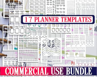 Bundle sale,Planner stickers templates DIY kit, life planner template, commercial use, Cricut Designs,Silhouette Designs