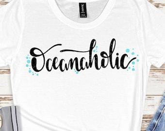 oceanaholic svg,beach svg, summer mermaid svg, summer svg, summertime svg,Summer Svg Designs, Summer Cut File, cricut svg