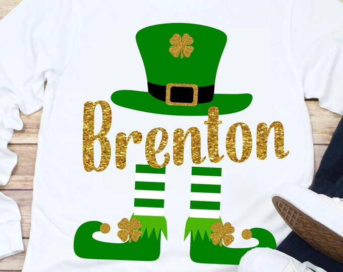 Featured listing image: Leprechaun svg,st Patricks day svg,boys st patrick's day svg,shamrock svg,kids st patricks day shirt,svg,dxf,cricut svg,crafty cuttables