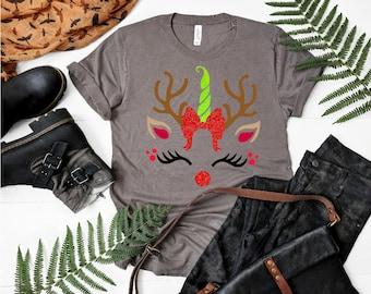Reindeer Unicorn svg,Unicorn svg,Unicorn Tshirt,Reindeer SVG, Reindeer Face, Rudolf svg,Christmas svg,Cricut Designs,Silhouette Designs