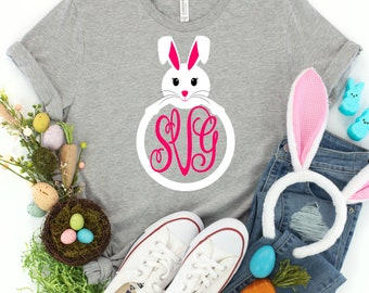 Easter Svg, Monogram bunny frame svg, monogram bunny svg, Easter bunny svg, Jesus svg, Easter svg design, Easter cut file, Easter cricut svg