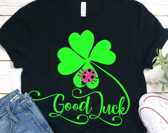 Good Luck Lady Bug svg,Shamrock svg,Shamrock Lady Bug svg,St.Patrick's Day svg,Lucky tshirt,crafty cuttable,Cricut Design,Silhouette Design