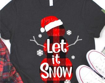 snowman svg,buffalo plaid svg,Let it snow svg,Winter Svg,Christmas svg,Christmas svg design,Christmas cut file,svg for cricut,svg for mobile
