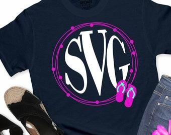 flip flop monogram svg, monogram,beach, monogram svg, summer svg, summertime svg,Summer Svg Designs, Summer Cut File, cricut svg