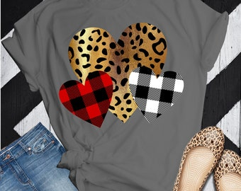 valentine hearts,leopard heart svg, Valentines Day png, SVG, DXF, EPS,trending svg,File for Cutting Machines Cameo and Cricut,plaid svg