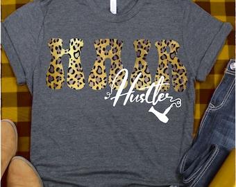 Hair Hustler svg,Beautician svg, Hair Stylist svg,Hair Dresser svg,Hairdresser,Salon,Cosmetology,Blow Dryer,svg for cricut,leopard print svg