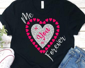 Me Plus You svg,Valentine svg,Couples svg,Love svg,Valentine Heart svg,Valentine Tshirt,Valentine Love svg,Cricut Design,Silhouette Design