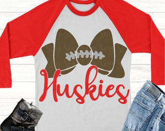 huskies football bow svg, Football svg, huskies football, huskies, huskies svg, Sports Svg Designs, Sports Cut File, cricut svg
