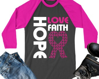 Hope Love Faith Breast Cancer Awareness SVG,Breast Cancer svg,tshirt svg,Cancer Survivor svg,Life svg,Cricut Designs,Silhouette Designs