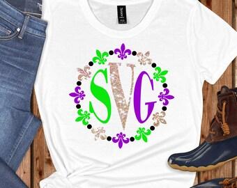 beads Monogram Fleur de Lis Svg,Mardi Gras Monogram,Fleur de Lis Svg,Mardi Gras SVG,Mardi Gras Svg Designs, Mardi Gras Cut File, cricut svg